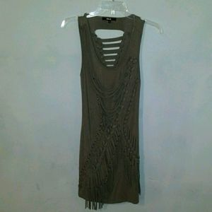 Torn and braided dress by black